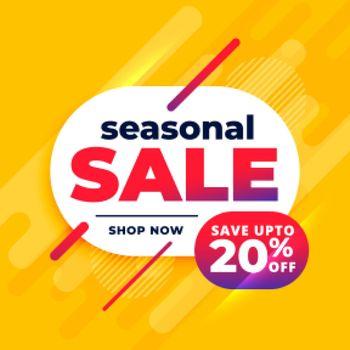 seasonal sale abstract yellow banner design