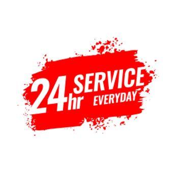 24 hours service everyday grunge banner design