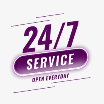 24 hours service open everyday background