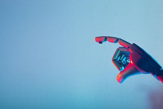 Robotic hand of futuristic