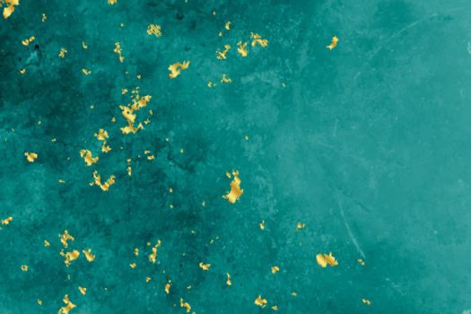 turquoise and gold foil texture background