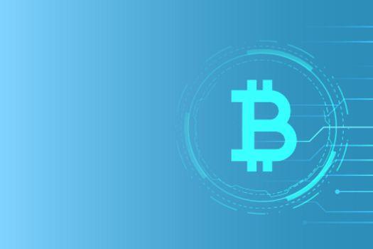 virtual money bitcoin technology concept background