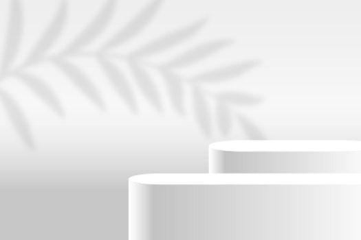 white product display stage platform background design