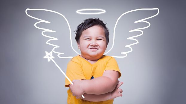 Portrait of little cupid