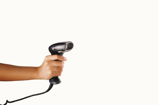 Barcode scanner  with clipping path