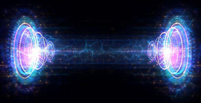 Futuristic circle  HUD of technology