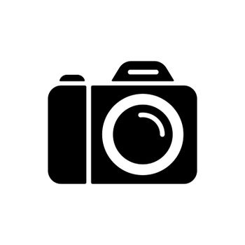 Camera vector glyph icon. Camping and Hiking sign