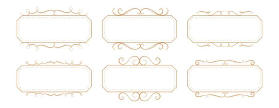 classic floral vintage frame rectangular boxes set