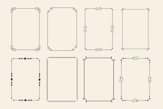 classic ornamental decorative frames set of eight