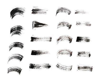 hand drawn brush stroke in various style design