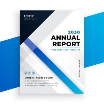 stylish blue annual report business brochure design