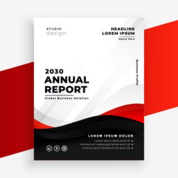 annual report modern red flyer design template