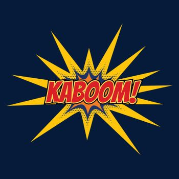 kaboom chat bubble expression in comic style