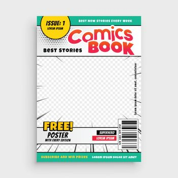 comic book stylish template for your magazine
