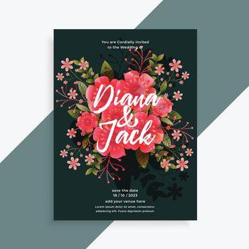 wedding invitation floral flower decorative card design