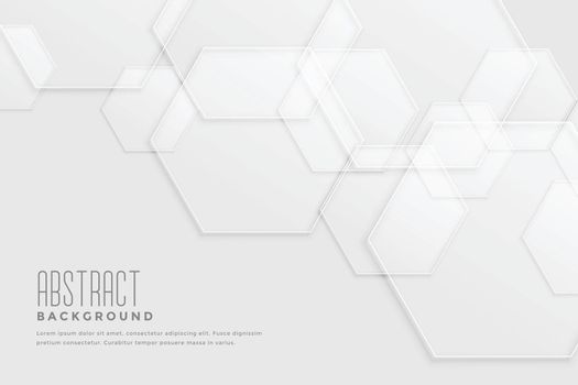 white background with overlapping hexagonal patterns design