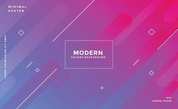 memphis style modern vibrant banner design