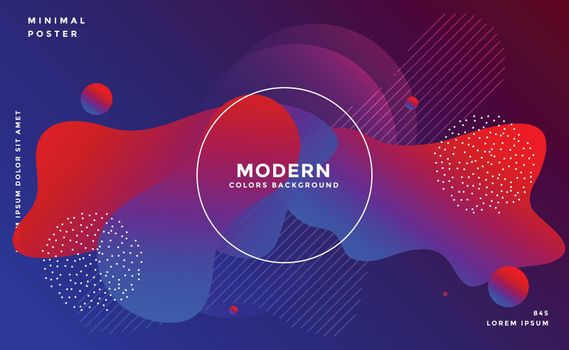 dynamic fluid shape background with vibrant colors