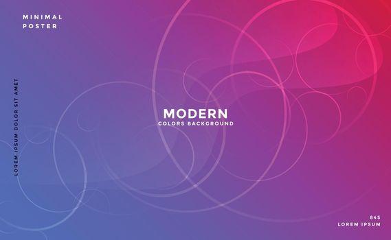 modern vibrant backgorund with circles effect design