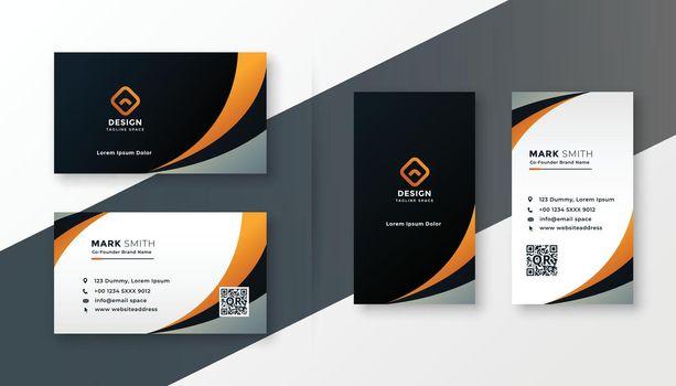 modern wavy business card design template