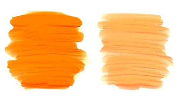 orange shape watercolor brush stroke texture background