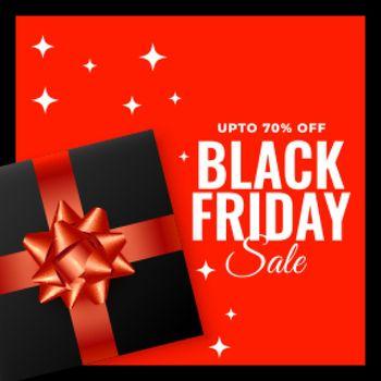 black friday gift background sale template design