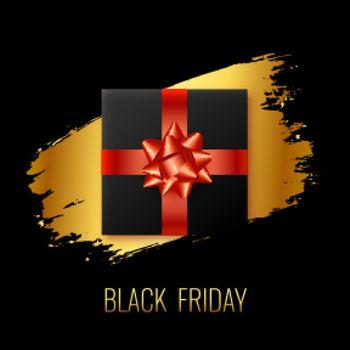 black friday gift background design template
