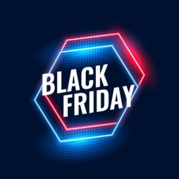 black friday geometric neon background design