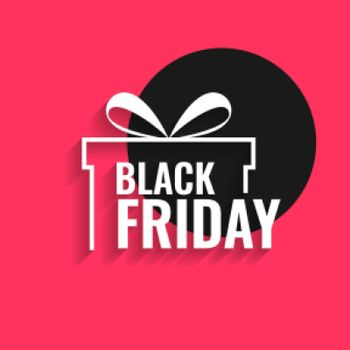black friday background with gift design
