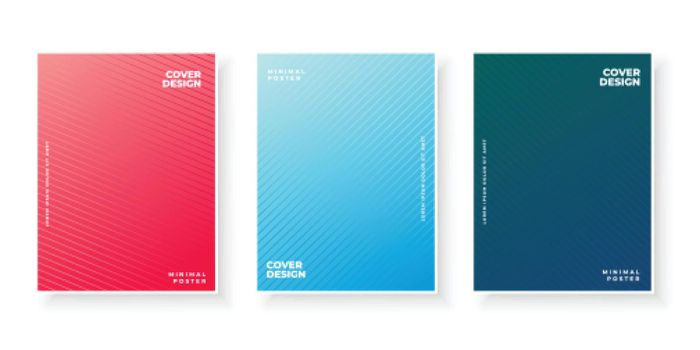 gradient cover collection with line pattern design