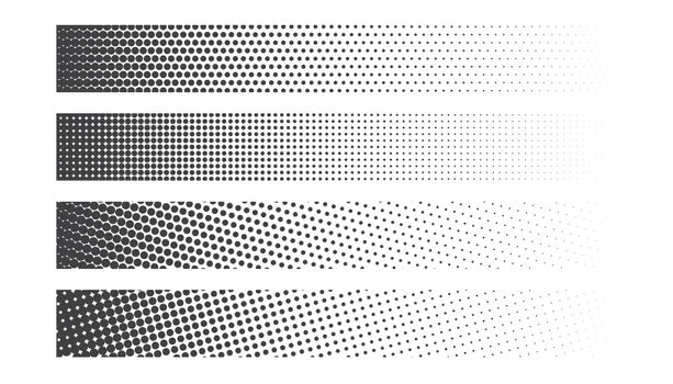 wide halftone banner set of four