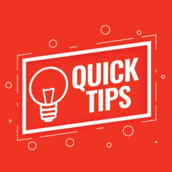 quick tips background for helpful tricks and hints
