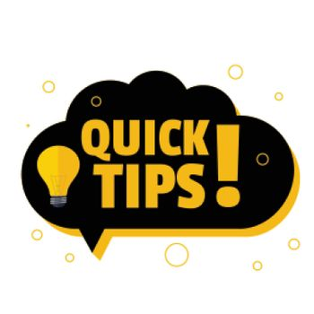 quick tips background with chat bubble style design
