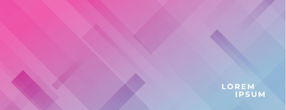 vibrant banner with diagonal lines effect design