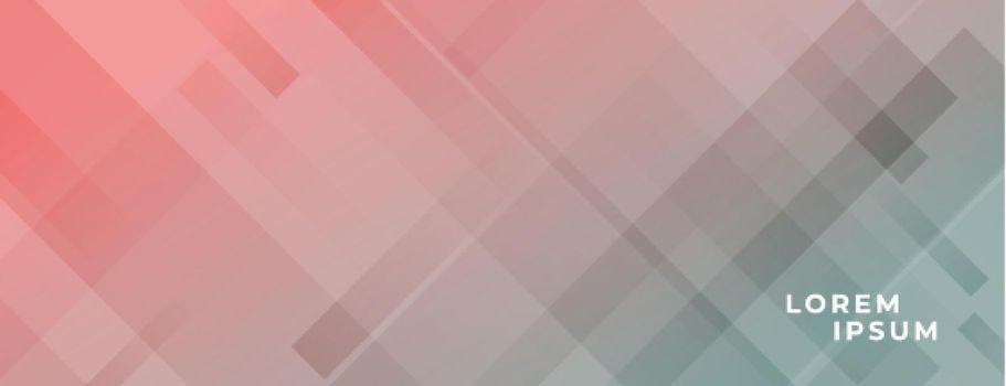 abstract wide banner with diagonal lines effect design