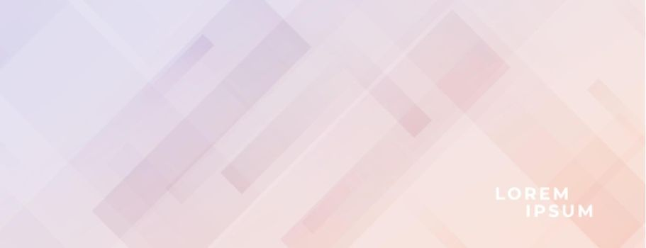 soft color banner with diagonal lines effect design