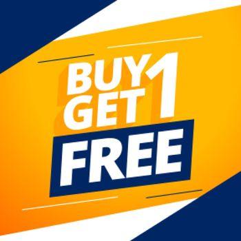 modern buy one get one free bogo sale background