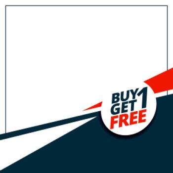 buy 1 get 1 free sale template with text space