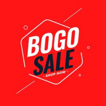 modern bogo buy one get one sale background design