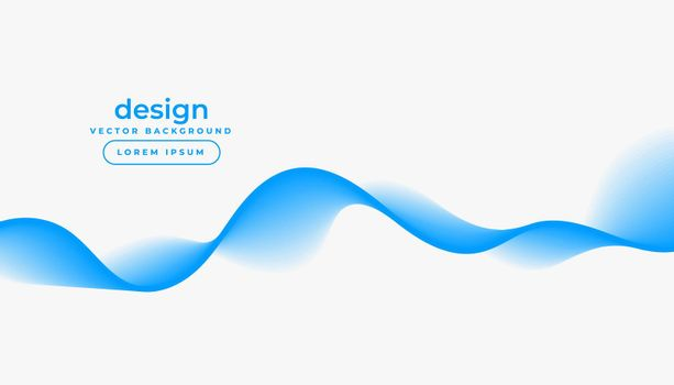 white background with blue gradient wave shape