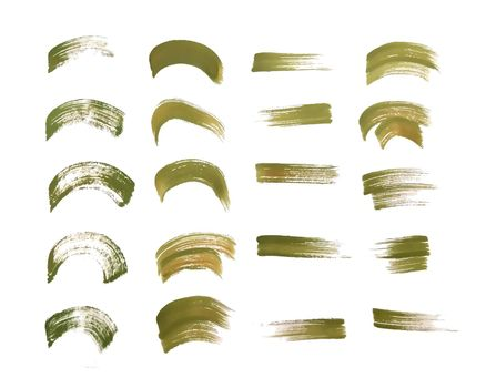 hand painted watercolor brush stroke textures set