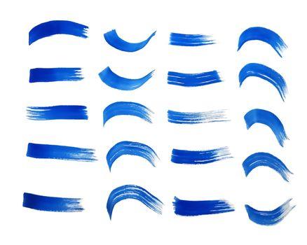blue hand painted watercolor textures set design