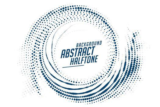 abstract swirl circular halftone effect background design