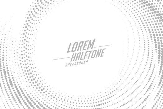 abstract circular swirl style halftone effect background