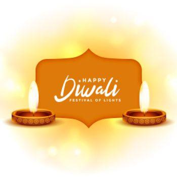 happy diwali festival wishes background design