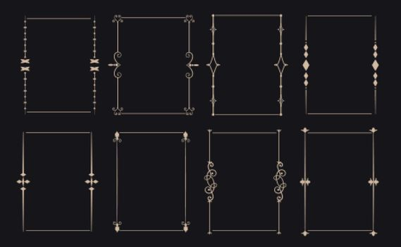 ornamental decorative vintage frame set of eight