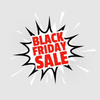 black friday sale background in comic style