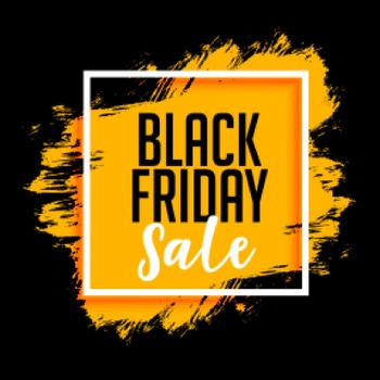 black friday sale background with paint splatter