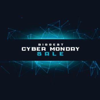 Cyber monday sale tech background for online shopping
