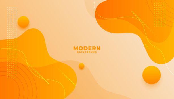 orange background with fluid gradient wavy shapes